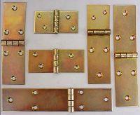 Scharnier   75 x 40 x 2,5 gelb